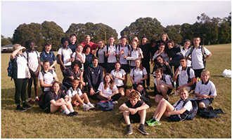 Melba Copland Secondary School Students in Indigenous Sport Program